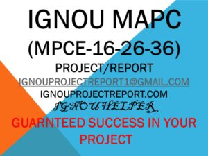 IGNOU MAPC PROJECT