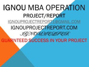 MBA OPERATION PROJECT